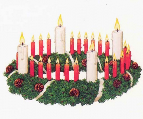 Adventskranz nach J. H. Wichern.